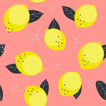 레몬 원활한 패턴 일러스트