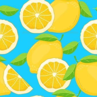 レモンのシームレスパターン。