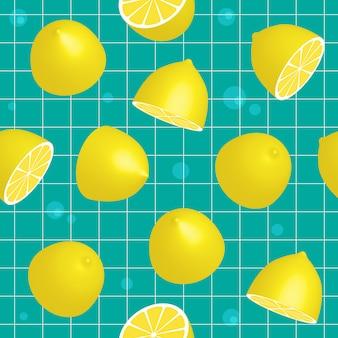 Лимонный бесшовный образец