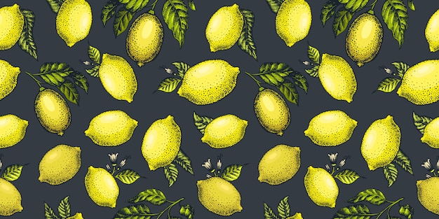 Lemon seamless, pattern