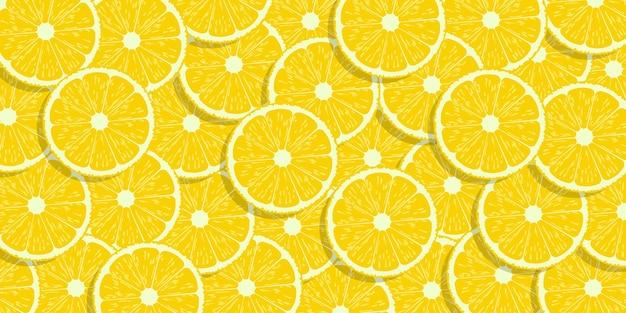 柠檬切片背景