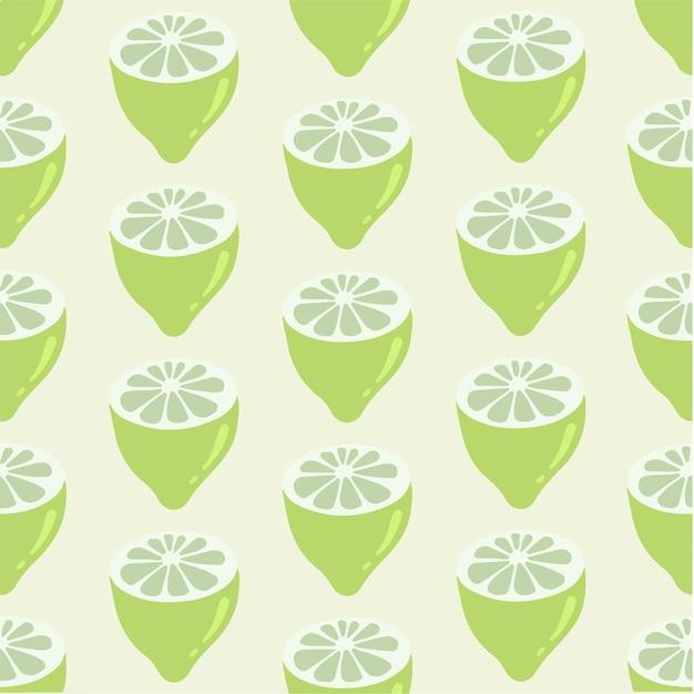 Лимонный ломтик узор фон социальных сми сообщение фруктов векторные иллюстрации