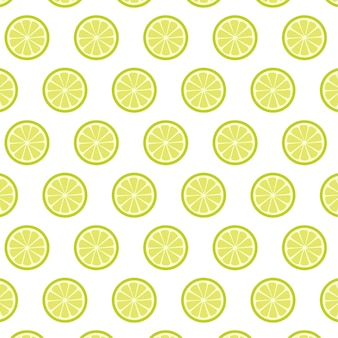 Lemon slice seamless pattern, citrus fruit background