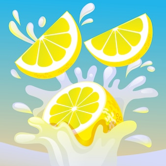 Lemon splash illustration