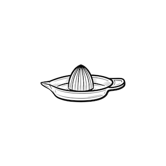 Lemon squeezer hand drawn outline doodle icon. equipment for making citrus juice - lemon squeezer vector sketch illustration for print, web, mobile and infographics isolated on white background.