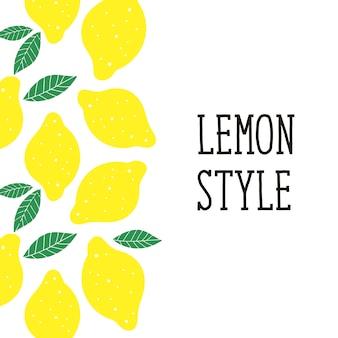Lemon style illustration minimalism yellow kitchen
