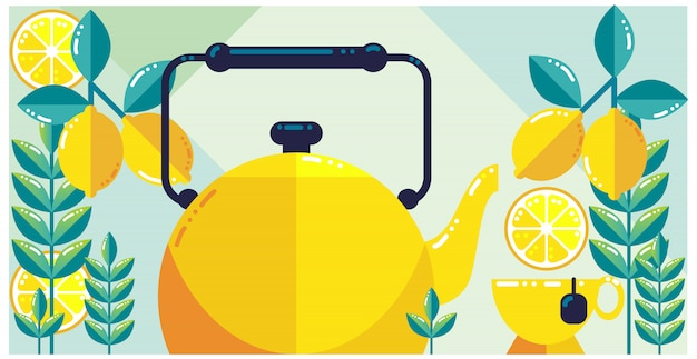 Lemon tea fresh design