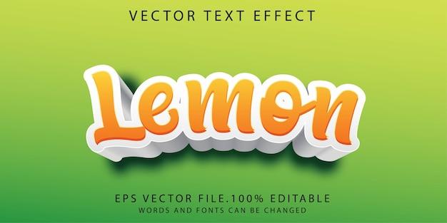 Лимонный текстовый эффект шаблон