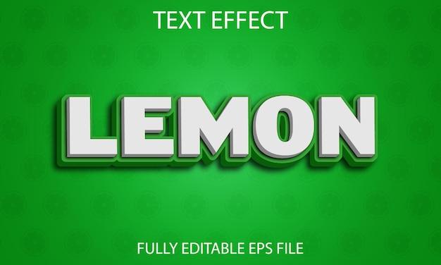 Lemon text effect