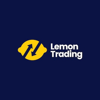 Lemon trade trading arrow logo vector icon illustration