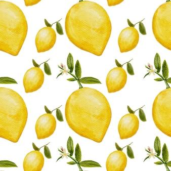 Lemon watercolor