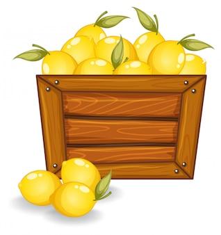 A lemon on wooden board