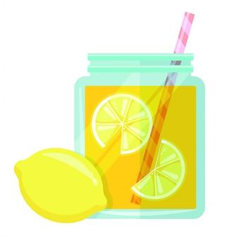 Lemonade jar vector