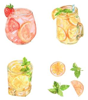 Лимонад акварель пакет