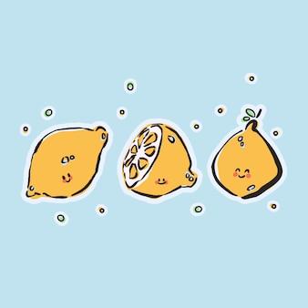レモンのかわいいイラスト