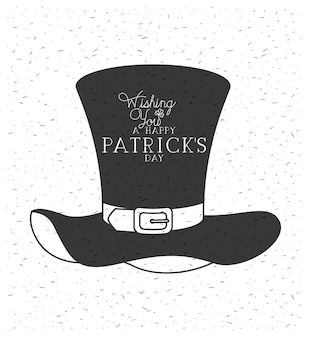 Lemprechaun hat saint patricks day font