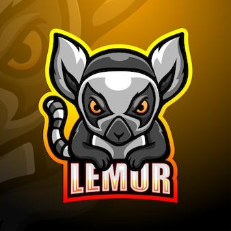 Lemur mascot esport illustration