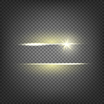Lens flare light effect