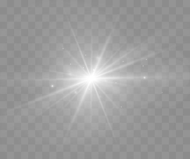 透明な背景に分離されたレンズフレアベクトルイラスト輝く火花光効果