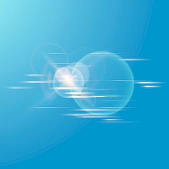 Lens flare vector technology icon in white on gradient background
