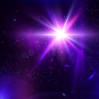 Абстрактный вектор светящийся фон. lens flare фантастический дизайн.