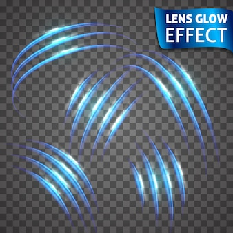 Lens glow effect. neon series set of cat scratch. bright neon glowing effect. abstract glowing crack, imitation effect speed.