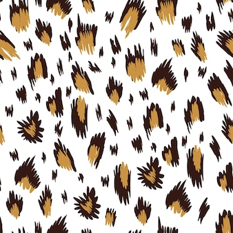 ヒョウアパルーサ牛革馬の皮はシームレスなパターンデザインを印刷します。ベージュの背景に小さな茶色の斑点を持つベクトル動物のテクスチャパターン。アニマルプリントのシームレスパターン。