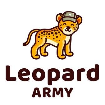 Leopard army kids милый логотип
