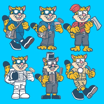 Leopard cartoon character
