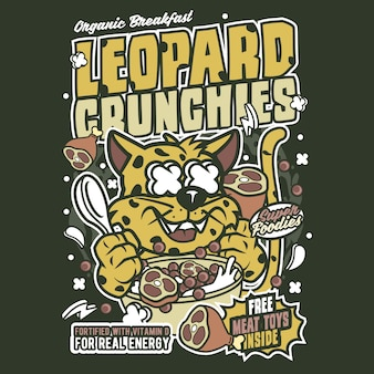 Leopard crunchies cartoon