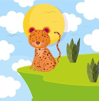 Leopard feline cartoon