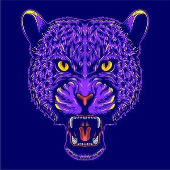 표범 머리 삽화 삽화