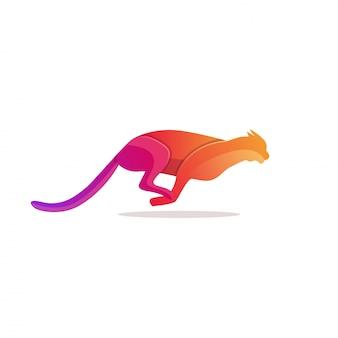 ヒョウのロゴのテンプレート