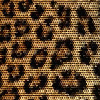 Leopard mosaic background