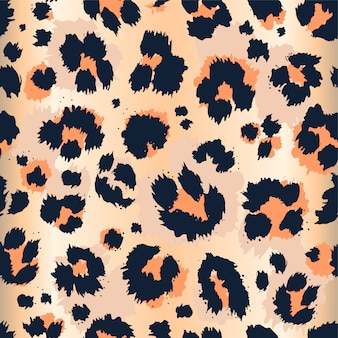 Leopard pattern funny drawing seamless pattern.
