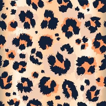 Leopard pattern funny drawing seamless pattern.