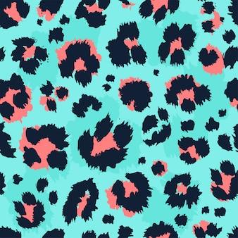 Leopard print seamless pattern.