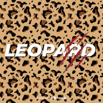 Leopard print with word background
