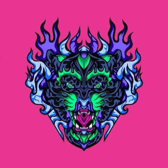 Leopard ruthless hunter vector illustration