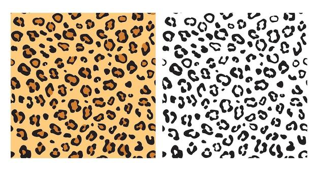Леопард бесшовные модели