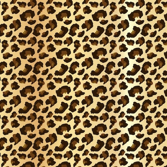 Leopard skin in editable seamless pattern