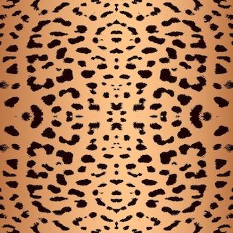 Образец печати кожи леопарда бесшовный узор из меха животных