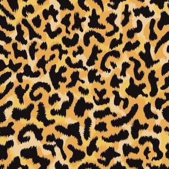 ヒョウの皮のシームレスなパターンの背景