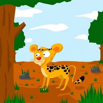 Векторные иллюстрации леопарда