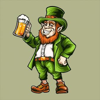 Leprechaun mascot illustration