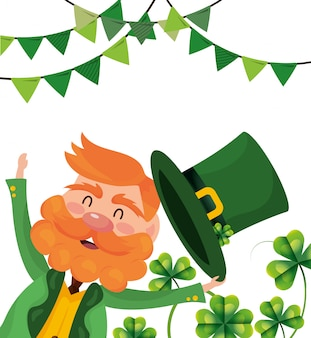 Leprechaun party hat clovers