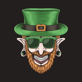 Leprechaun piercing head for st. patrick's day
