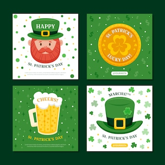 Leprechaun st. patrick's day instagram post collection