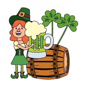 Leprechaun with barrel