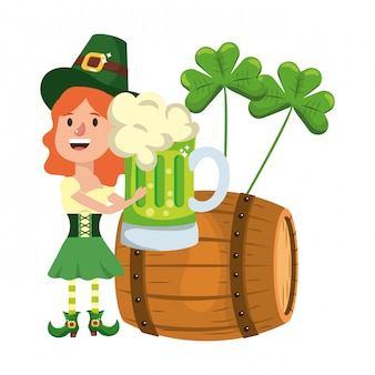 Leprechaun with barrel